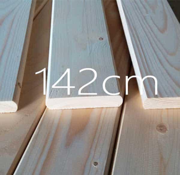 142 cm τάβλες κρεβατιού
