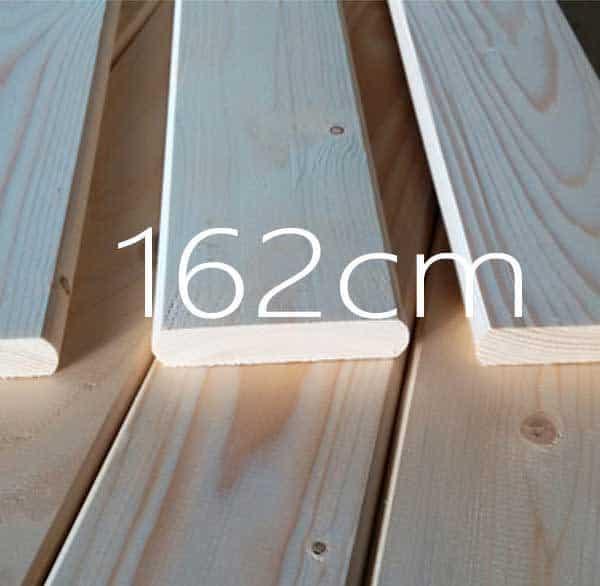 162 εκατοστά τάβλες κρεβατιού