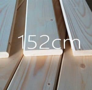 152 εκατοστά τάβλες κρεβατιού